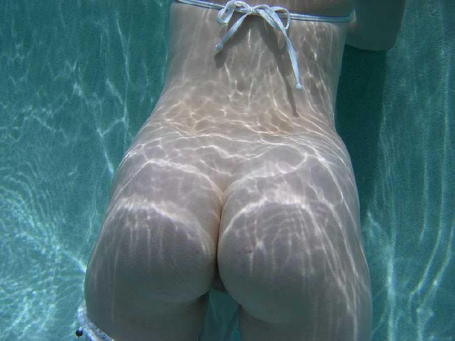 naked underwater